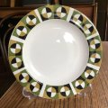 "Wood & Sons ""Alpine White"" vintage op art cake/side plate"