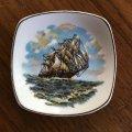 Midwinter sailing ship vintage pin dish