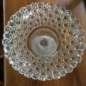 画像4: Glass comport/cake stand England