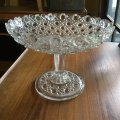 Glass comport/cake stand England