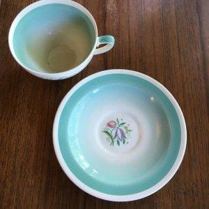 """画像3: Susie Cooper """"Dresden Spray"""" tea cup and saucer"""