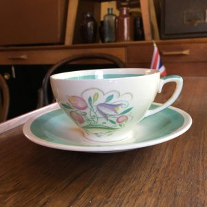 """画像2: Susie Cooper """"Dresden Spray"""" tea cup and saucer"""