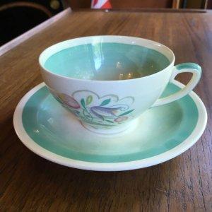"""画像1: Susie Cooper """"Dresden Spray"""" tea cup and saucer"""
