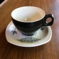 "Midwinter ""Nature Study"" demitasse cup and saucer Stylecraft Hotelware"