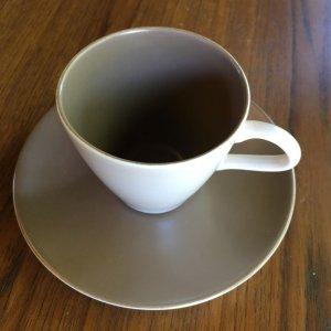 """画像2: Poole pottery """"Mushroom and Sepia"""" coffee cup and saucer"""