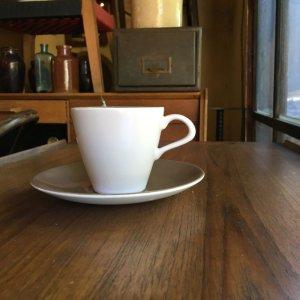 """画像4: Poole pottery """"Mushroom and Sepia"""" coffee cup and saucer"""