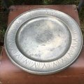 Vintage pewter dish HAUGRUD from Norway