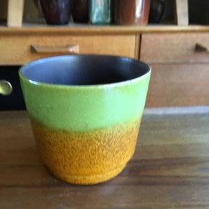 画像1: Vintage plant pot cover from West Germany