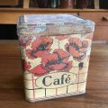 Old french coffee tin canister