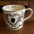 Queen Elizabeth II silver jubilee mug 1977 Wedgwood designed by Richard Guyatt