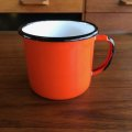 Vintage enamel mug made in Poland