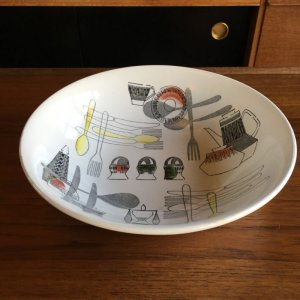 "画像1: ""Fiesta"" by Barker Bros,Royal Tudor salad bowl"