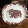 "English Ironstone Tableware ""Beefeater"" steak dish"