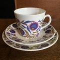 "Elizabethan ""Fleur Bleue"" vintage tea trio"