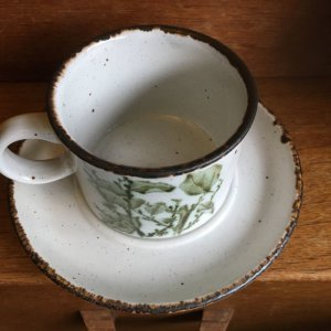 "画像3: Midwinter ""Green Leaves"" tea cup and saucer designed by Eve Midwinter"