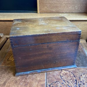 画像1: Vintage wooden box from England