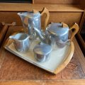 vintage Piquot ware tea set