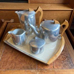 画像1: vintage Piquot ware tea set
