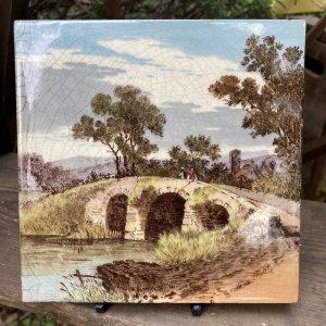 画像1: Victorian antique tile from England