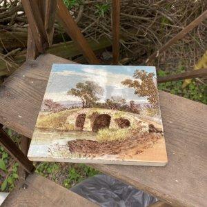 画像2: Victorian antique tile from England