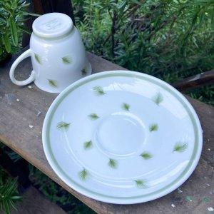 """画像3: Susie Cooper """"Whispering Grass"""" demitasse cup and saucer"""