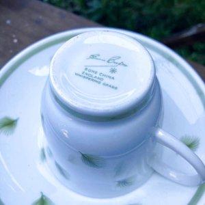 """画像4: Susie Cooper """"Whispering Grass"""" demitasse cup and saucer"""