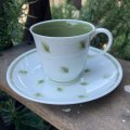 """Susie Cooper """"Whispering Grass"""" demitasse cup and saucer"""