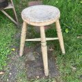 vintage painted stool from England