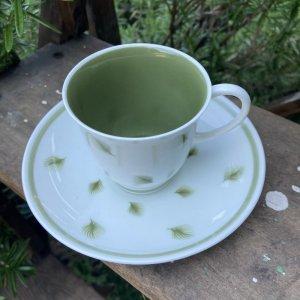 """画像2: Susie Cooper """"Whispering Grass"""" demitasse cup and saucer"""